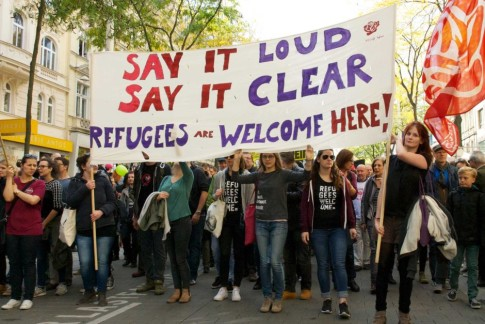 Say it loud, say it clear, refugees are welcome here