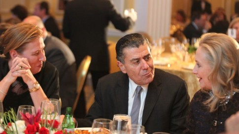 Secretary of State Hillary Clinton, Haim Saban, Tzipi Livni at the Saban Forum in Washington, D.C.