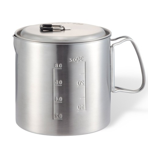 Solo Pot 900- Lightweight Stainless Steel Backpacking Pot for Solo Stove and Other Backpacking And Camping Stoves