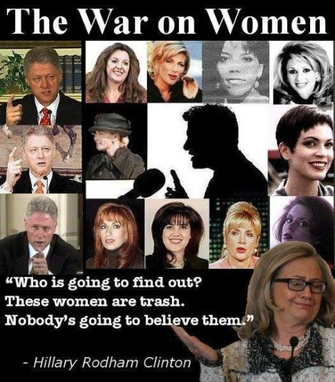 Hillary Bill Clinton war-on-women