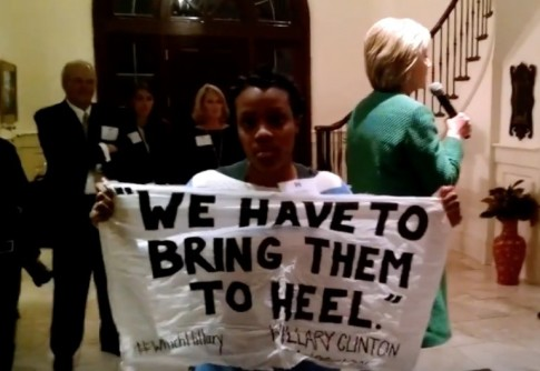 Protester Confronts Hillary Clinton About Her Calling Inner City Black Youth Super Predators