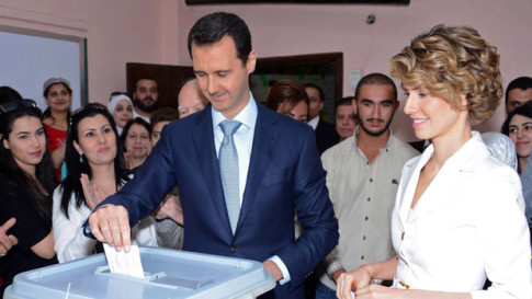 Syrian President Bashar al-Assad votes in country's presidential elections on 4 June, 2014