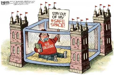 US colleges safe spaces