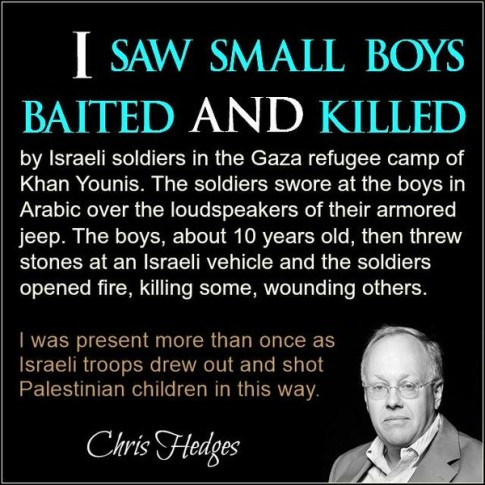 Israel Palestine Chris Hedges