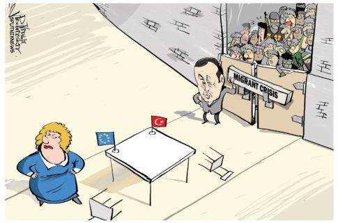 turkey migrant crisis cartoon