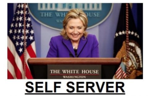Hillary-Clinton-self-server