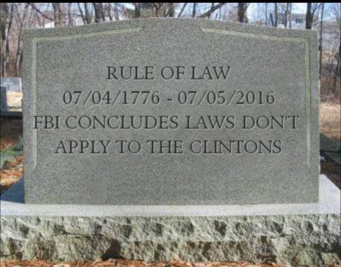 Rule Of Law FBI Hillar Clinton