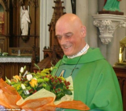The priest who was stabbed in his own home has been named locally as 65 year old Jos Vanderlee (pictured)
