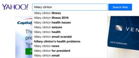 Yahoo Search Clinton