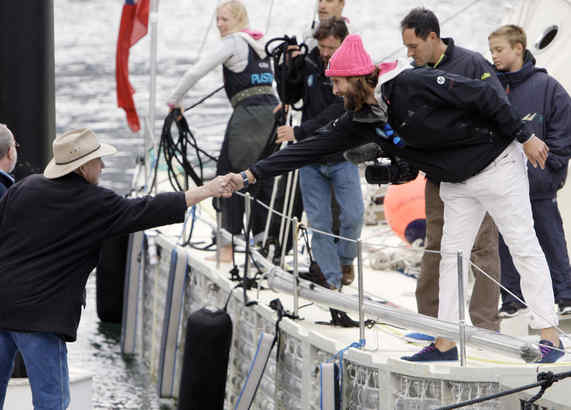 Plastiki Skipper David De Rothschild Masonic Handshake