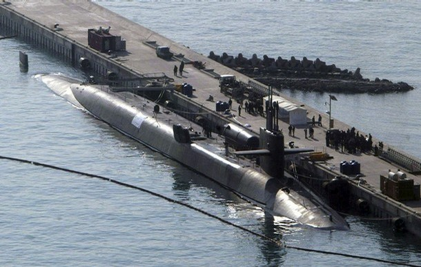 USS Ohio, a US guided missile submarine