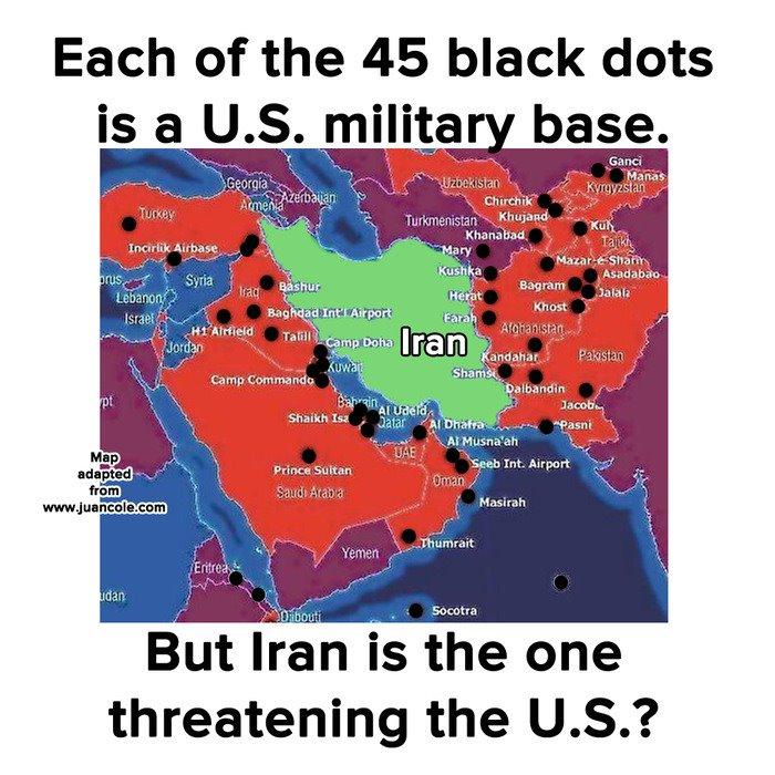 Iran-US-military-bases