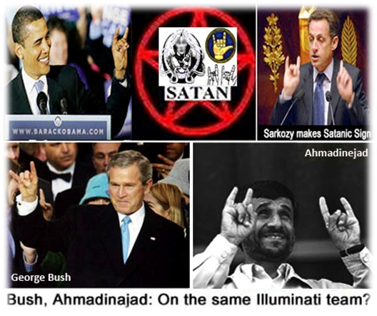Obama-Sarkozy-Bush-Clinton-Ahmadinejad-Satanic-Salutes