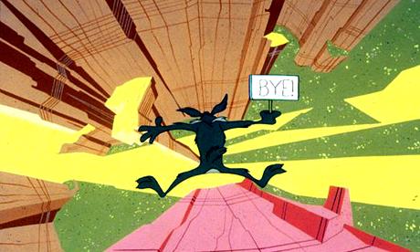 coyote falling