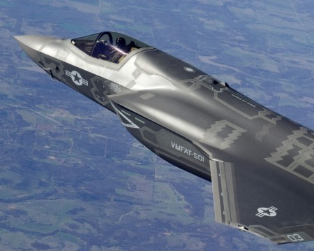 The F-35′s rearward visibility is limited