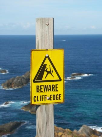 Beware cliff edge