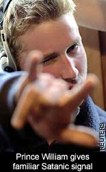 Prince William-Satanic-handsign