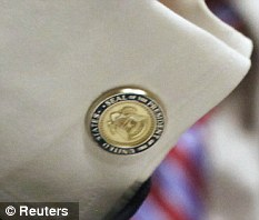 Jamie Dimon cufflinks - The seal reads Seal of the President of the United States and includes the arrow-carrying eagle-2
