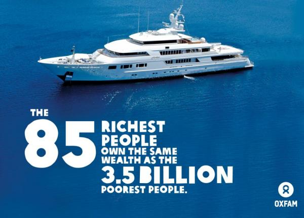 The 85 Richest People Have The Same Wealth As Half The World's Population