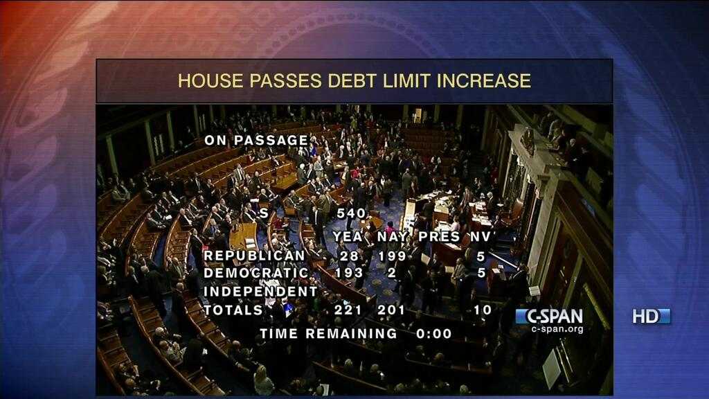 CSPAN Vote debt ceiling