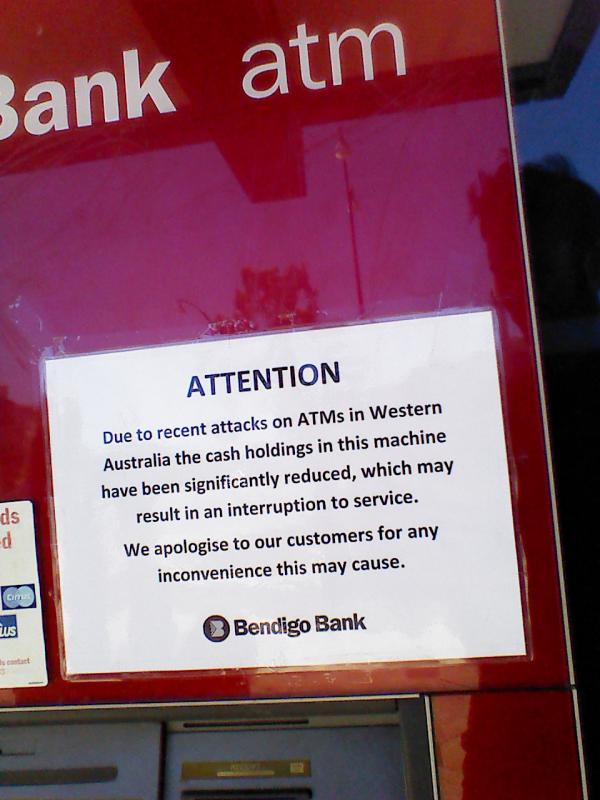 Seen On An ATM In Western Australia