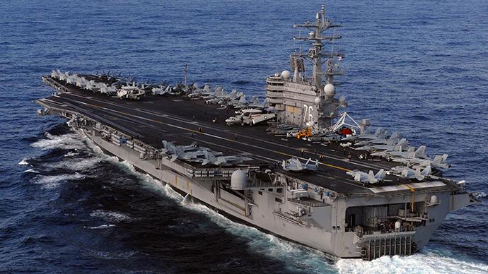 US aircraft carrier USS Ronald Reagan
