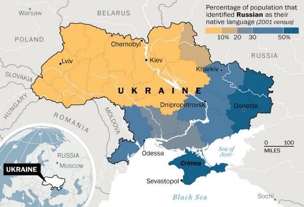 Ukraine west v east