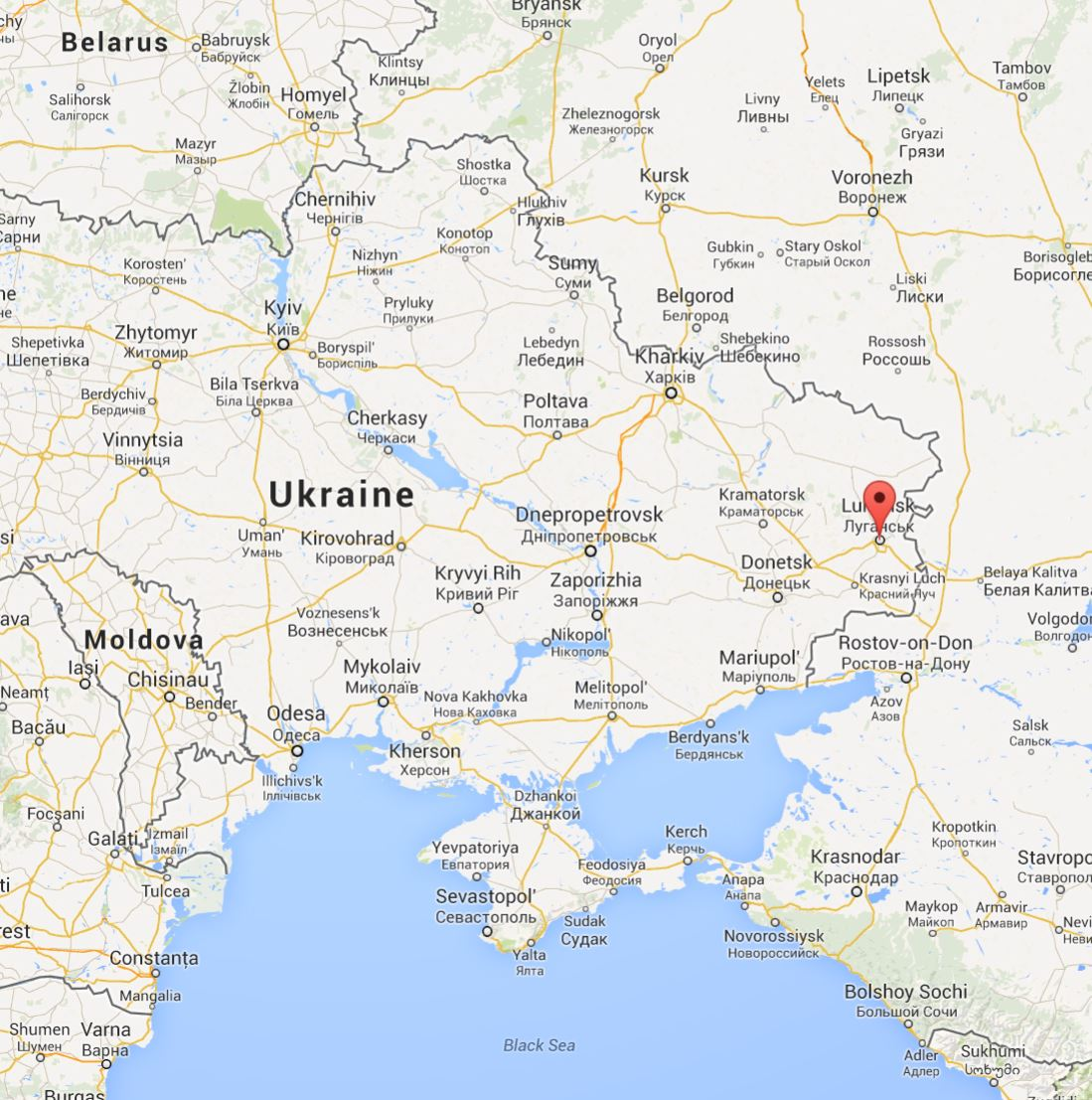 Lugansk map