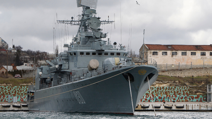 The Ukrainian Krivak class frigate Hetman Sahaydachny