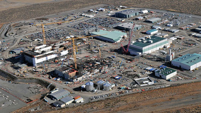 The nuclear waste processing facility near Hanford, Washington