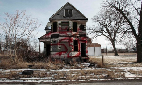 A vacant and blighted home on Detroit's east side