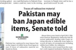 Pakistan may ban Japan edible items