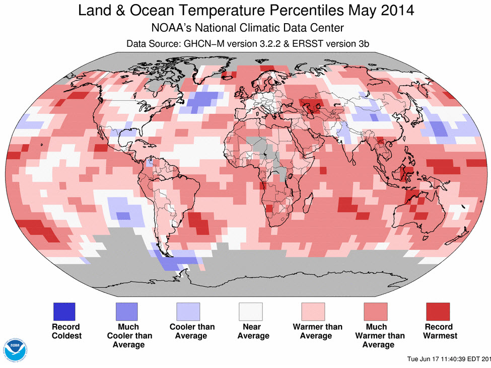 Globe Suffers Hottest May On Record - NOAA