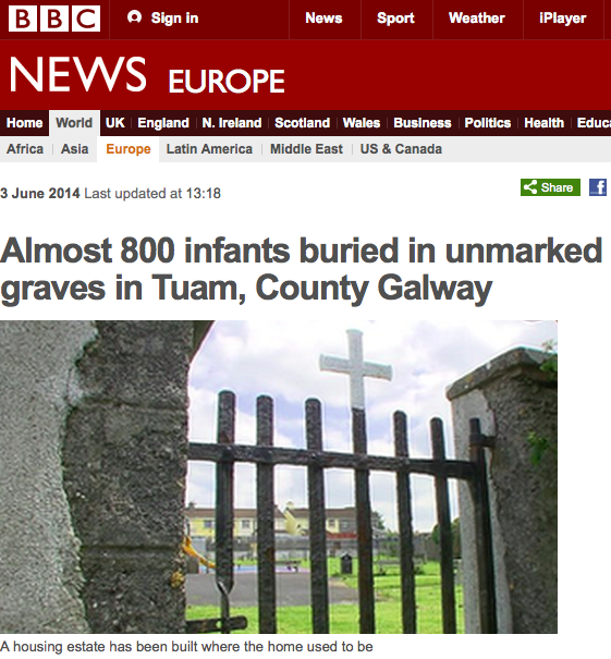 almost 800 babies were buried in a mass grave next to a home for unmarried mothers and babies