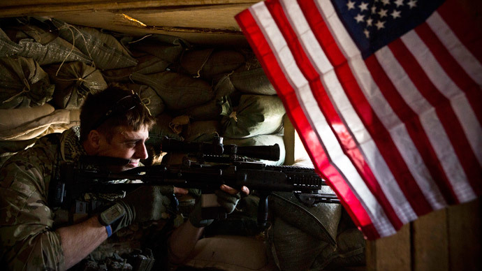 A US sniper in Azim-Jan-Kariz, Afghanistan