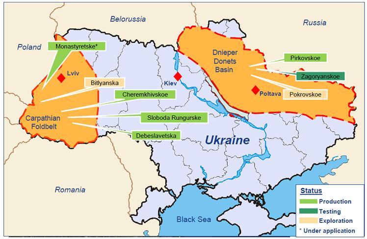 Dnieper Donetsk shale basin