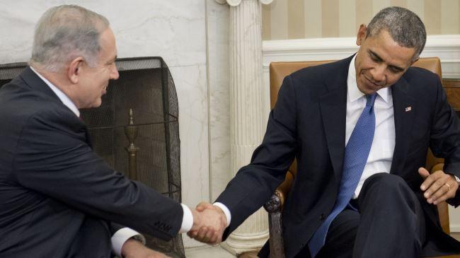 US President Barack Obama (R) and Israeli Prime Minister Benjamin Netanyahu