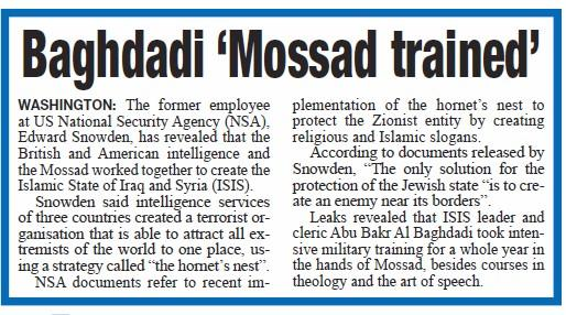Baghdadi Mossad Trained
