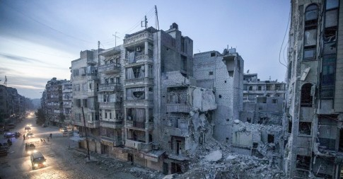 Dar Al-Shifa hospital in Aleppo, Syria after a bombing
