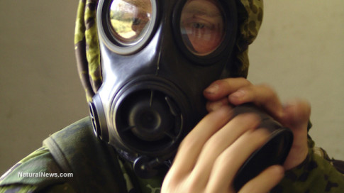 Gas-Mask-Man-Putting-On-Hands