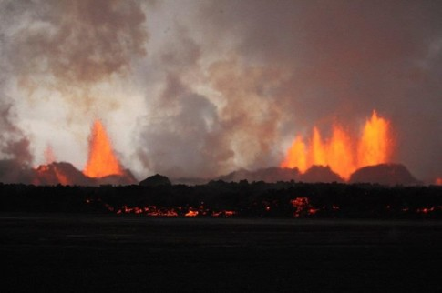 Iceland - The Holuhraun fissure eruption this morning1