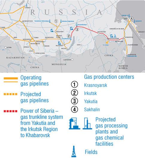 russia gaz map