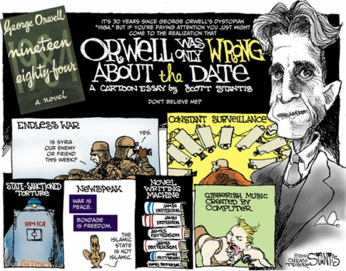 ORWELL WAS ONLY WRONG ABOUT THE DATE
