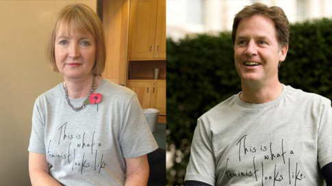 Feminists Harriet Harrman and Nick Clegg