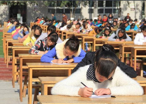 This Is What Taking An Exam In China Looks Like-3