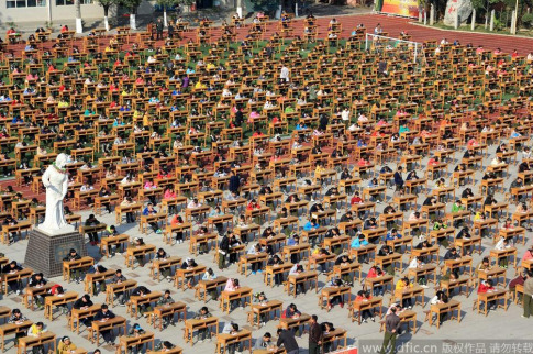 This Is What Taking An Exam In China Looks Like