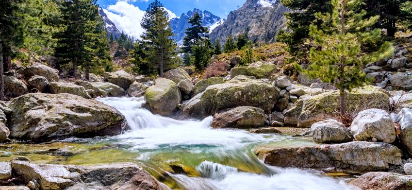 Waterfalls at Restonica in Corsica