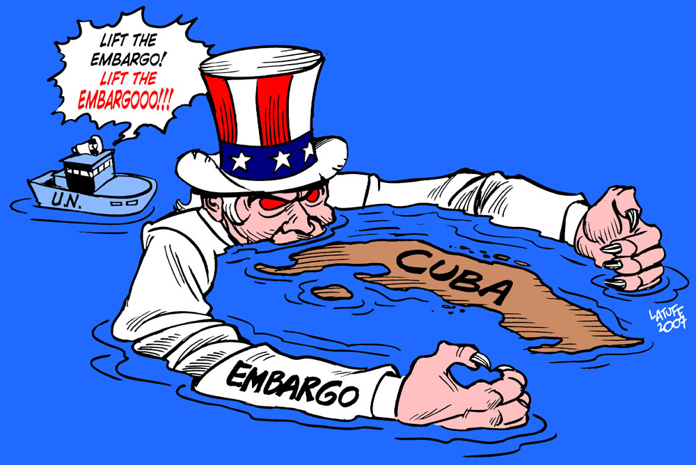 Cuba embargo caricature