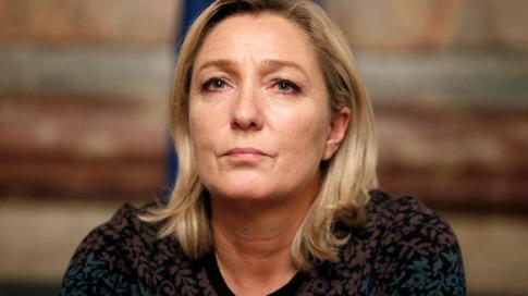 Frances far-right National Front political party leader Marine Le Pen