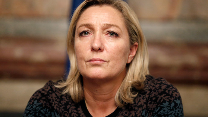 Frances far-right National Front political party leader Marine Le Pen